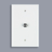 Data Comm Coax Wall Plate. Part # 32-0012. CPU: 660559003923. 32-0012. Part # 32-0011