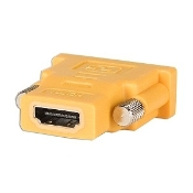 ASUS DVI-D Dual Link Male to HDMI Female Adapter. 04G460002450. New. UPC: 683728181505. Yellow color. DVI-D to HDMI adapter. DVI-D dual link male. HDMI female.