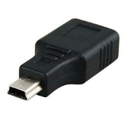USB A Female to Mini USB B 5 Pin Male Adapter Converter Connector. New. HTO-1061.