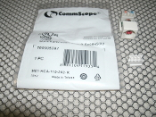 CommScope 760005397 Connector. 884104159334. New. M81 RCA to 110 Punchdown Module Audio and Video Adapter, white housing red connector. M81-RCA-110-262-R.
