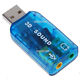 USB 2.0 External Sound Card 3D 5.1 Audio Adapter for PC. Real USB Plug and Play, eliminates the need of traditioinal sound card. The best entertainment for games, DVD, and music.