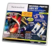Newpoint Printer Cable Kit. 3 Cables. Model: 02035 UPC: 797146034555. Model: 52301.
