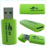 Sundike USB 2.0 Micro SD T-Flash TF Card Reader. X T-Flash Card Reader. Sundike Brand. New. HTO-1028. High Tech Outpost.