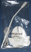 Creative 30113331090 Microphone with stand. Almond Color. New in Creative bag.