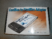 2-Port IEEE 1394 Firewire PCMCIA CardBus Adapter. CardBus to FireWire Adapter. New in Retail Box. Model: CBFR-911. FireWire is not included.
