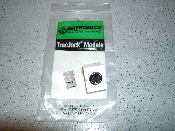 Ortronics OR-63700025-83 TracJack Module. UPC: 662875362982. White. New in retail package. Cloud white.