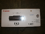 Canon FX3 Black OEM Toner Cartridge. New. FX-3. 1557A002{BA}. R26-7287. UPC: 030275163810.