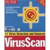 McAfee VirusScan for Windows 98/95. New. OEM. Free UnInstaller. McAfee VirusScan for Windows 98/98/3.1/ NT (Workstations only) DOS, OS/2. CD-ROM and manuals in retail box.