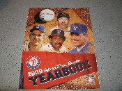 2008 Official Texas Rangers Yearbook. Used. Cover: Goose Gossage, Gaylord Perry, Fergie Jenkins and Noland Ryan. 160 Pages. Excellent Condition. 20081039.