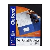 Esselte 51761 Laminated Twin Pocket Portfolios. New. Navy. Oxford Deluxe. 10 Letter Size Twin Pocket Portfolios. Business Card Holder. Laminated Cover Stock with Reinforced Edges. UPC: 078787517615.