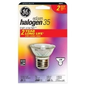 GE 20641 Halogen 35 Lamp Bulb. New. OEM. JRD. 35 Watt, PAR16, JDR16, Curio Cabinet light bulb with a E26 medium screw base. average life 3,000 hours. 35PAR16CURIO. 500 Lumens.
