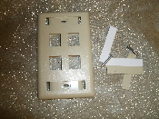 Hubbell IFP14EI 1 Gang 4 Port Ivory Wall Plate. New. 662620826530.