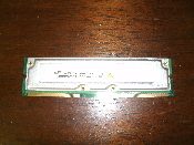 Samsung MR18R0828BN1-CK8 RDRAM 128MB / 8, 800-45 ECC. Refurbished. Pulled from a working computer. Must be installed in pairs.