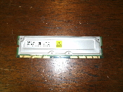 Toshiba THMR2E4Z-8 128MB RDRAM PC800 800MHz 45ns ECC 184-Pin Rambus RIMM. 128MB/4 ECC. 800-45. 729873/0140UKC G100, S110. Refurbished. Pulled from a working laptop.