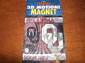 Oklahoma Sooners OU 3D Motion Refrigerator Magnet. New. 874037241275.