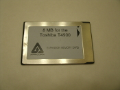 Toshiba T4900 4900-8M000003485. 8 MB Expansion Memory Card. Brand: Apricorn. 8M000003485