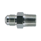 "Dormont Gas Connector Fitting 3/8'' O.D. (1/4"" I.D.) Flare x 1/2'' FIP Connector. New. UPC: 662447023914. Retail packaging."