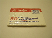 "Mead Plain Index Cards. UPC: 043100634621. Model: 63462. White. 4"" X 6"" INCH. 10.1 X 15.2cm. New."