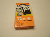 Peach Handheld Pocket Calculator. New in retail package. Model: 036 SE. PR 651. UPC: 678822106516. 7640106496616.