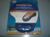 Mouse Pad 251157 With Wrist Pad. New. Blue. Ergonomic Mouse Pad