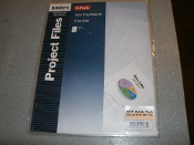 "Kinko's 94033 Clear Project Files. 9 Packs of 5. 45 Total Project File Protectors. Holds 8"" X 11"". Clear Poly Material. Copy Safe. New. 885808940334."