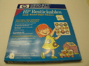 "HP Round Restickable Inkjet Stickers. New. HP Bright White. 2.5"" RoundStickers, With 3M ""Post-it"" Adhesive. 10 sheets per package. 9 stickers per sheet. Design your own stickers. Mfr P/N C6822A."