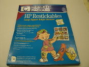 "HP Square Restickable Inkjet Stickers. New. HP Bright White. 2.5"" Square Stickers, With 3M ""Post-it"" Adhesive. 10 sheets per package. 9 stickers per sheet. Mfr P/N C6823A."