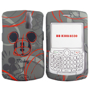 Disney Shield Protector Case for BlackBerry Curve 8300 8310 8320 8330, Mickey Gray ECDBB8300M52. 842797013760.