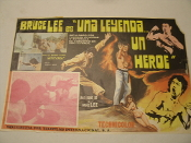 "Bruce Lee es ""una leyenda un heroe"" Original Spanish Movie Poster. Techicolor. Staring Bruce Leet-Kune-Do. Director: Singloy Wang. HTO-1057."