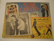 Slim Carter. Original Spanish Movie Poster. 1957. HTO-1067. Universal Pictures. Starring: Jock Mahoney, Julie Adams and Tim Hovey.
