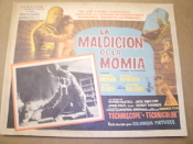 La Maldicion de la Momia Movie Poster. 1957. The Curse of the Mummy's Aztec Tomb. Starring Terence Morgan, Fred Clark, Ronald Howard and Jeanne Roland.