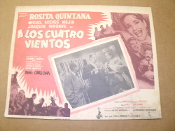 A Los Cuatro Vietos Movie Poster. Spanish. To The Four Winds.Rosita Quintana, Miguel Aceves Mejia and Joaquin Pardave. 1955. Columbia Pictures.