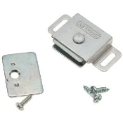 Stanley 71-0300 Adjustable Magnetic Cabinet Catch. New. CD41 (AL). 033923922951. Aluminum Finish. Retail package.