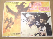El Latigo Contra Satanas. Spanish Movie Poster. 1979. The Whip Against Satin. A film about a Zorro veriant fighting against a satanic cult, El Latigo contra Satanas. Original, not a copy or a reprint.