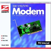 Zoom Technologies V92 PCI 56K Internal Desktop Modem. 3030-00-00EG. 726947108479. Supports programmable duration DTMF (touchtone). Call progress tone detection (dial tones, busy, ring) V.80 (point-to-point H.324 video over standard phone lines)