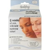 Godefroy 186297000098 Permanent Eyebrow Color Kit. New. 6 Weeks of Rich, Vibrant Eyebrow Color. Professional Package. 4 Application Kit.