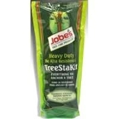 "Jobe's TreeStakit. New. Everything to Anchor a Tree. Promotes Straight Natural Growth. 038398005253. Kit Contains: 3 Reuseable Stakes, 21"" (6.4) Rope and Tree Tubes."