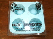 Icy Shots Mold. New. 797734005202. The easy way to make shot glasses made completely out of ice.