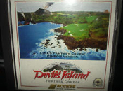 Devil's Island Fantacy Course. 081192712360. LINKS386 Pro, Microsoft Golf and Links. Flybys and CD-ROM play only available with links 386 CD. 7785 Total Yards. 18 Holes. 1995.