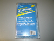 "Spotless Microfiber Floor Mop. MWH-1604B-S. New. Mop Head: 4"" X 16"". Box of 10. 033875008161. Good For 300 Washes. 75% Polyester, 25% Nylon."