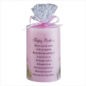 Happy Birthday Candle. 34041. New. Pink.