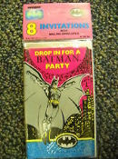 Unique #14014 Batman Party Invitations. 8 Per Package with Mailing Envelopes. 011179140145. New. Drop in For a Batman Party. Batman Returns.