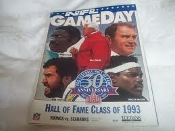 NFL GameDay. Hall of Fame Class of 1993. Los Angles Raiders vs. Green Bay Packers. July 31, 1993. NFL, Canton, OH. Pro Football Hall of Fame 30 Anniversary. Used.