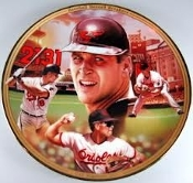 Cal Ripken Jr. Baseball Record Breakers Plate. 2131. 11607F. 84-B10-524.1. Bradex. Rookie of the year.