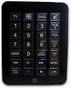 dB 851365 Jumbo Universal Remote Control. New. 050428672723. Decibel Electronics. Controls 3 Devices: TV, DVD and CBL/SAT. Extra Large Buttons.