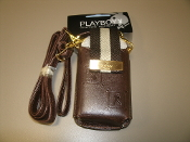 Playboy 0840176012939 Cell Phone, iPhone, MP3 and iPad holder with a belt clip and a strap. New. 840176012939. Brown.