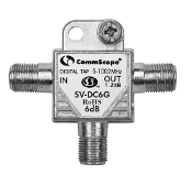CommScope SV-DC6G Digital Tap 5-1002MHz. New. Out 2.8dB RoHS. 6dB.