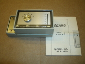 Sears 387.912500 Heat Pump Thermostat. New. 387.9125. Type W-R 1F58-54. 8903E7 3. 42 9125. D>42. MY>9125. 24 volt: Use No. 9154 4-Wire thermostat cable. (Maximum of 8 wires required) Temperature Range: 45F to 95F. 44-8258. LR27935.