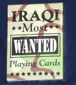 Iraqi Most Wanted Playing Cards. New, But Opened. 041187064539. Bicycle Playing Cards. Includes All 52 Wanted Iraqi Personalitiies, Plus 2 Jokers.