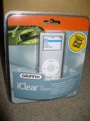 Griffin iClear For Nano. 6088-NCLEAR2. iClear Nano 2G. New. Retail Package. 685387060887. 50685387060882.